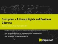 Corruption - Global Compact Nordic Network
