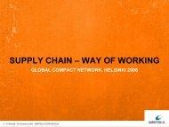 Wartsilä Corporate PowerPoint - Global Compact Nordic Network