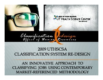 2009 uthscsa classification system re classification system re-design
