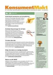 KonsumentMakt 10 - Sveriges Konsumenter