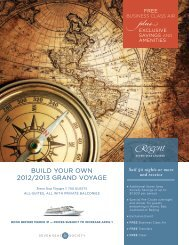 Build youR own 2012/2013 gRAnd VoyAgE