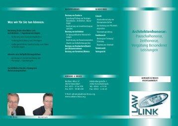 Architektenhonorar: Pauschalhonorar, Zeithonorar ... - Adrians & Brass