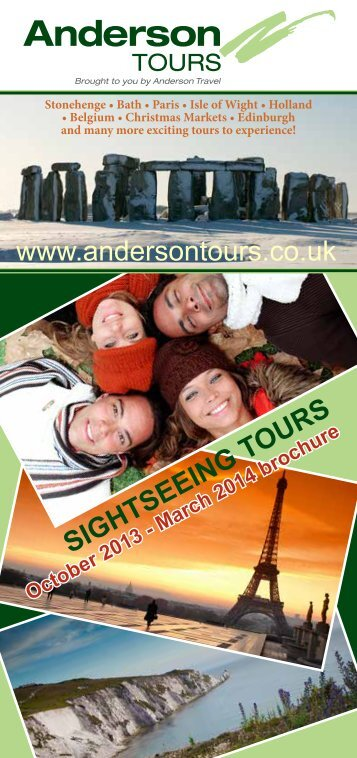 October 2013 - March 2014 brochure - Anderson Tours