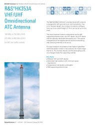 R&S®HK353A VHF/UHF Omnidirectional ATC ... - Rohde & Schwarz