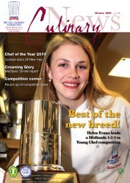 Best of the new breed! - British Culinary Federation
