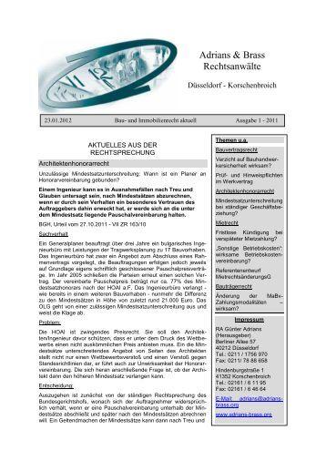 Architektenhonorar Hoai 2 free magazines from adrians brass org