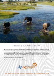 Namibia, Botswana & Zambia - Air Adventure Australia