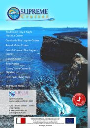 Sup Cruises Brochure - July 2012 - S Version ... - Malta Sightseeing