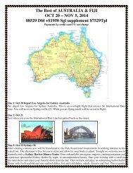 Best of AUSTRALIA & FIJI - Tye's Top Tour and Travel