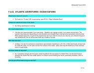 faq atlantic adventures / ocean safaris - Elemental Tours