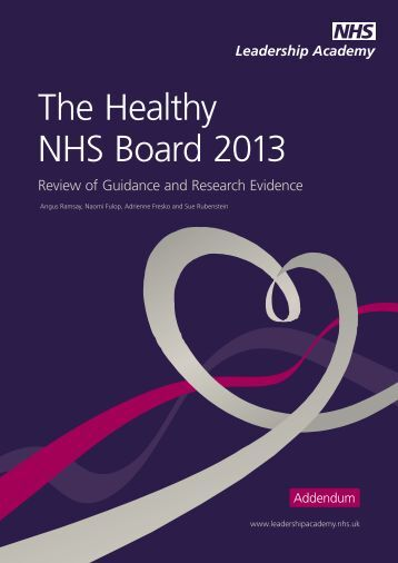 Healthy NHS Board: a review of - NHS Leadership Academy