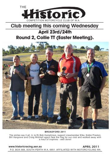 April 23rd/24th Round 2, Collie TT (Easter Meeting). - iiNet