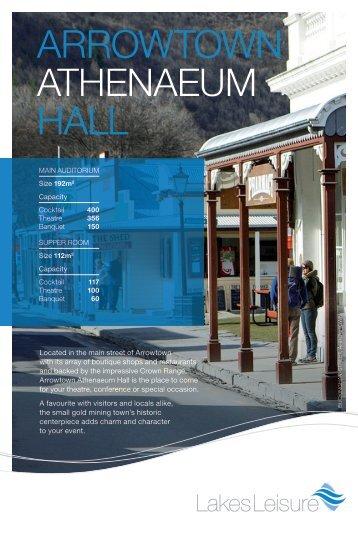 ARROWTOWN ATHENAEUM HALL - Queenstown Events Centre