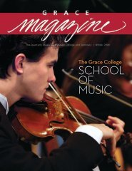 SCHOOL OF MUSIC - Grace College and Seminary