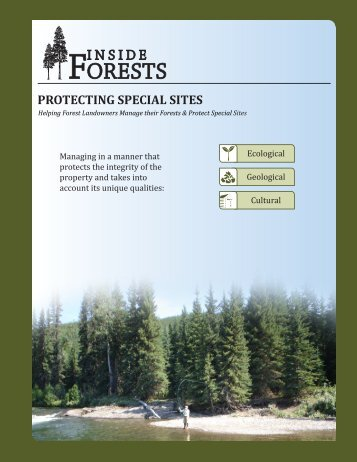 PROTECTING SPECIAL SITES - Montana Forest Owners Association