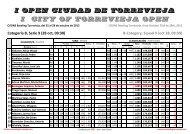 i open ciudad de torrevieja i city of torrevieja open - Euro Bowling ...