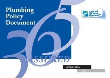Plumbing Policy Document - Sutton and East Surrey Water Services
