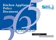 Kitchen Appliance Policy Document - Sutton and East Surrey Water ...