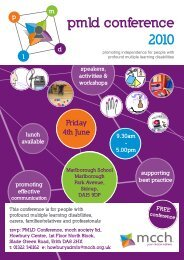 pmld conference 2010 - the PMLD Network