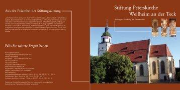 Stiftung Peterkirche
