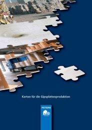 Gipsplattenkarton - Papierfabrik Gelsenkirchen