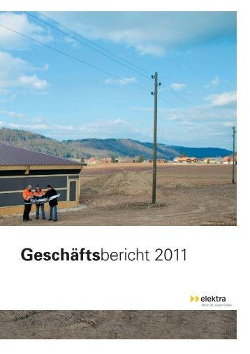 Geschäftsbericht 2011 - Genossenschaft Elektra, Jegenstorf