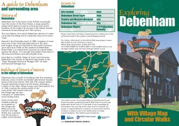 Debenham Village brochure part 1 - The South & Heart of Suffolk