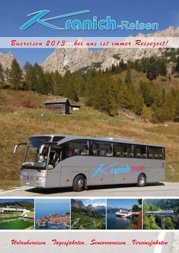 Katalog 2013... - Kranich - Reisen