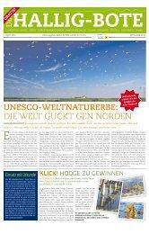 UNESCO-WEltNatUrErbE: DIe WeLT guCKT geN ... - Hallig Hooge
