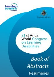 Book of Abstracts - Learning Disabilities Worldwide