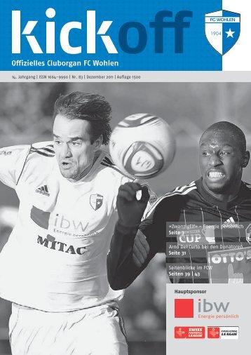 DaS fcw-TEaM SaiSon 2011/2012 DiE ... - FC Wohlen