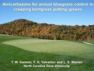 Annual bluegrass control - TurfFiles - North Carolina State University