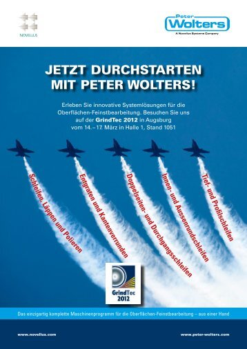 JETZT DURCHSTARTEN MIT PETER WOLTERS! - Peter Wolters AG