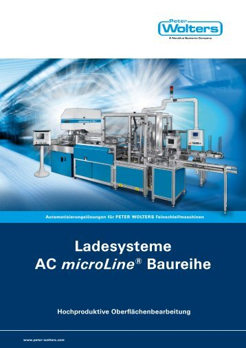 Ladesysteme AC microLine® Baureihe - Peter Wolters AG