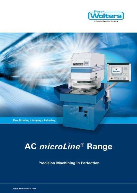 AC microLine® Range - Peter Wolters AG
