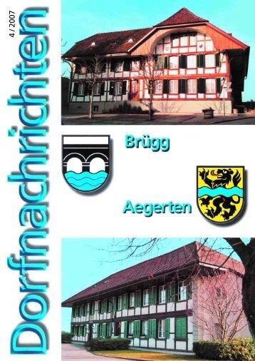 Dorfnachrichten Dezember '07 (pdf 2Mb) - Gemeinde Brügg