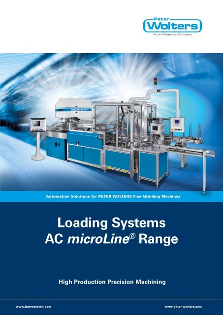 Loading Systems AC microLine® Range High ... - Peter Wolters AG