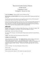 Minutes for the Transition Task Force of Princeton November 28 ...