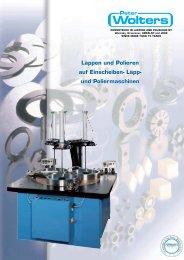 Läpp- und Poliermaschinen - Peter Wolters AG