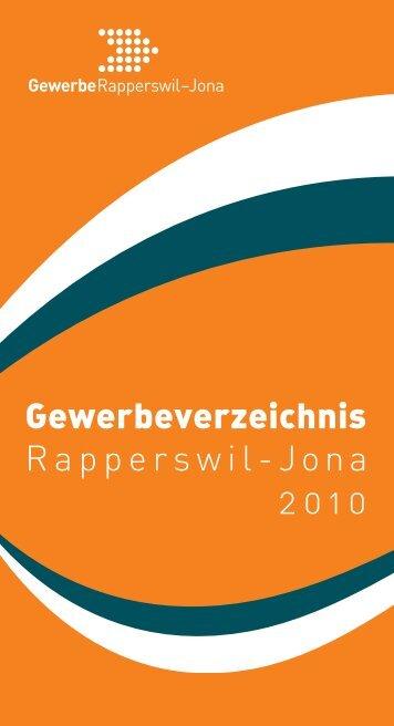 Gewerbeverzeichnis Rapperswil-Jona 2010 - Gewerbe Rapperswil ...