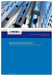 section & tube punching systems - petig ag