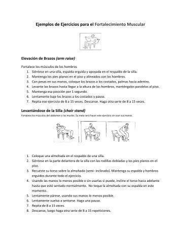 Ejemplos de Ejercicios para el Fortalecimiento Muscular