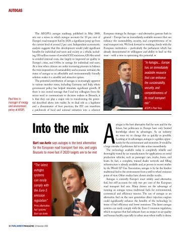 Article in The Parliament Magazine about roundtable ... - Prins