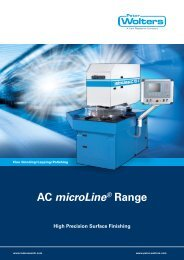 AC microLine® Range High Precision Surface ... - Peter Wolters AG