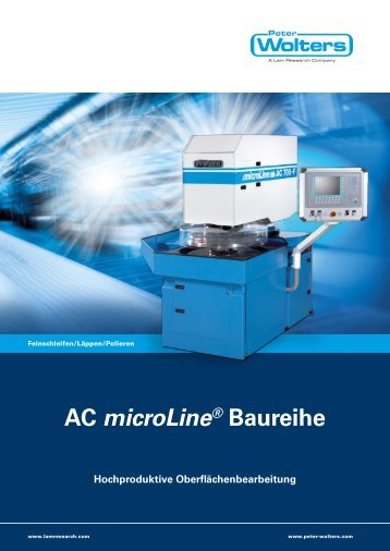 AC microLine® Baureihe Hochproduktive ... - Peter Wolters AG
