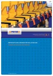 Broschüre hydraulische Stanzeinheiten - petig ag