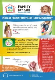 April/May 2013 - Kids at Home - Family Day Care
