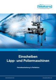Einscheiben Läpp- und Poliermaschinen - Peter Wolters AG
