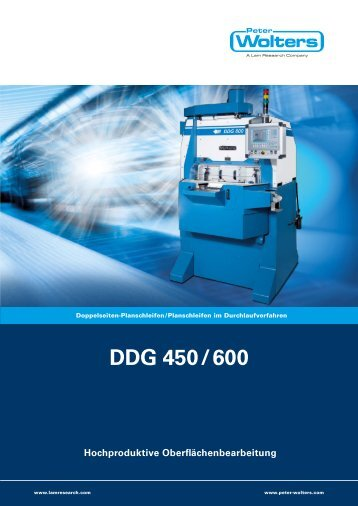 DDG 450 / 600 Hochproduktive ... - Peter Wolters AG