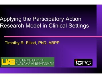 Applying the Participatory Action Research Model in Clinical Settings